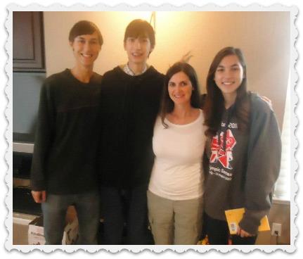 Alec, Aaron, & Aubrey with Cousin Christine
