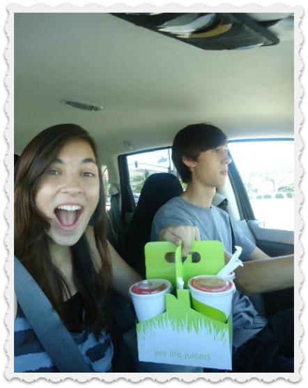 Aubrey & Alec Commuting to School