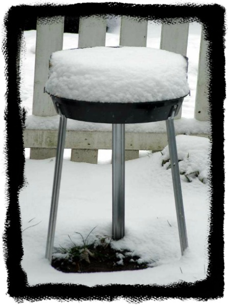snowy barbecue in Berlin