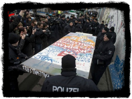 Berlin Wall Protest -- Craig Robinson Photographer