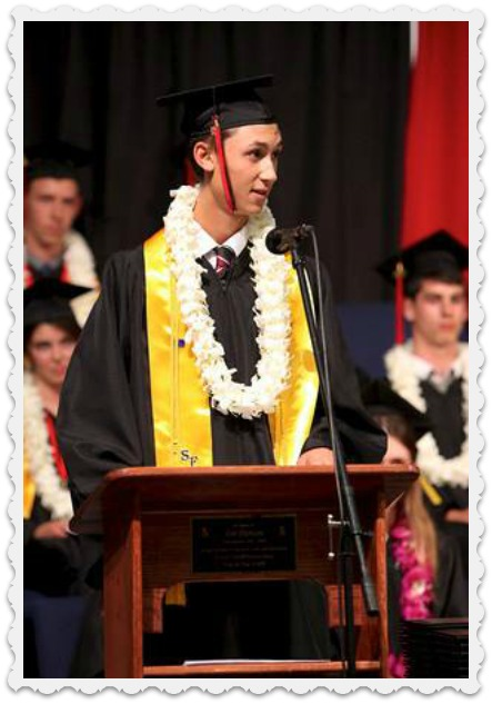 Alec's graduation speech