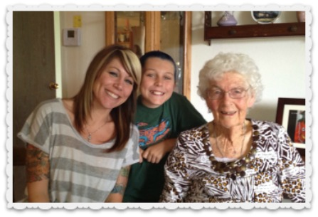 Heather, Noah & Great-Grandma Mary