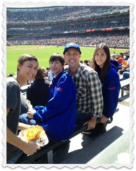 Alec, Aaron, Brett, & Aubrey at a Dodgers Game