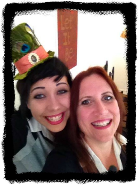 Party time:  Fiona and her mom