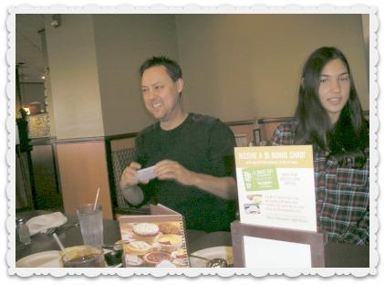 Brett (left) and his daughter Aubrey