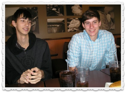 Aaron (left) and Dominic
