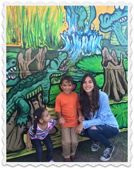 Aubrey with Silas & Sidney - august