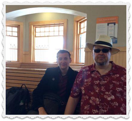 Craig and Gabi - train - sept