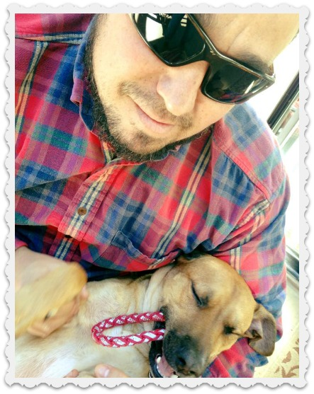 Amy's hubby Ric & the dog