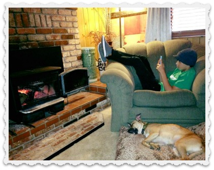 Coziness - Amy's eldest with dog