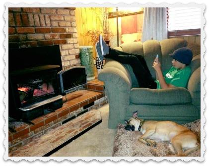 Coziness - Amy's eldest with dog