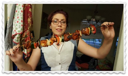 Fiona enjoying reward - barbecue