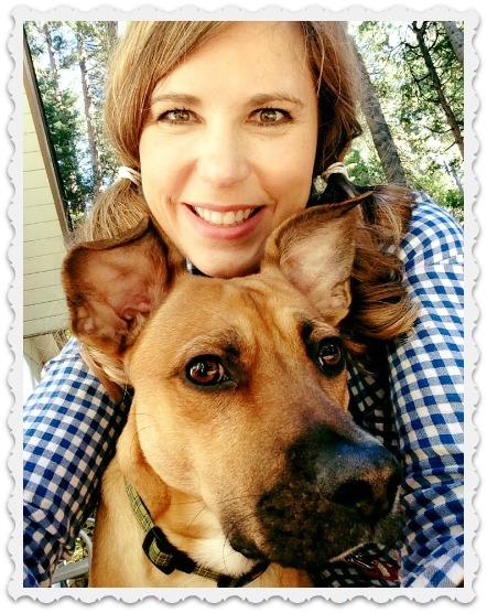 Niece Amy - birthday girl with dog