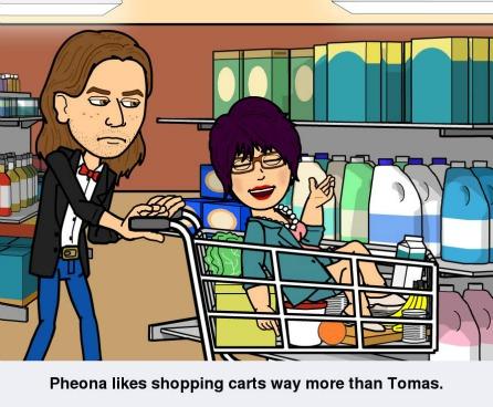 Tomas & Fiona playing...