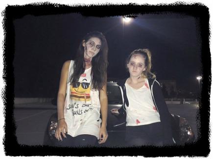 Aubrey and friend - Halloween