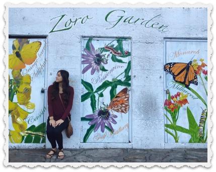 Aubrey in flowers
