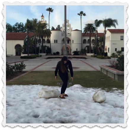 Aubrey's snowy day