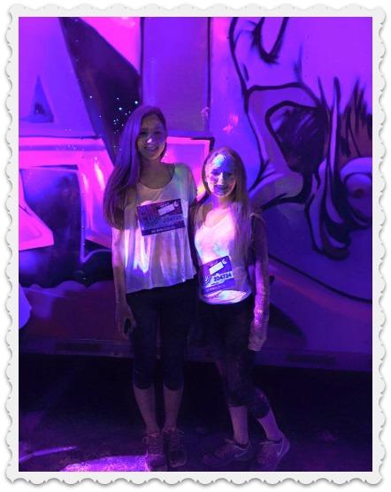 Aubrey & friend- college girl down time