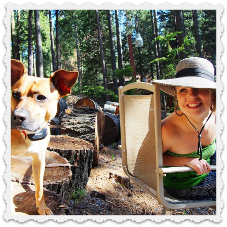June camping - Amy & Dog